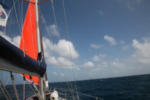 Gale Sail mit Blick auf Carriacou
