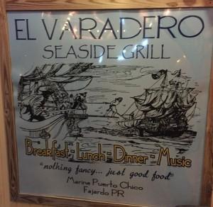El_Varadero_Schild