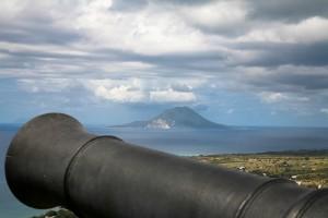 Blick auf St. Eustatius